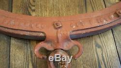 Louden's Patent #30, October 1895 Horse Harness Yoke For Hay Carrier Lifting