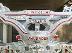 MYERS CLOVERLEAF H-422+H-445 TROLLEY HAY CARRIER UNLOADER+FORK PULLEY H-529