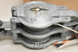 Mckissick 6 Galvanized Tackle Block P-302-B 1.65 Ton 3/4 with Crosby Clip