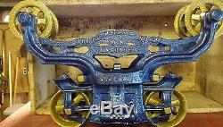 Myers hay trolley F. E Myers & Bro. Unloader farm barn primitive