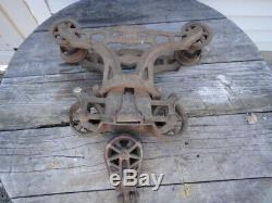 Myers hay trolley Unloader barn pulley cast iron hay carrier