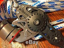 NEW! HARKEN 57MM CARBO 41 MAIN SHEET, VANG, BLOCK/TACKLE With40' NEW 3/8 LINE