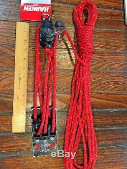 NEW! HARKEN 61 LOW PROFILE 40MM CARBO MAIN SHEET, VANG, BLOCK/TACKLE With40' LINE