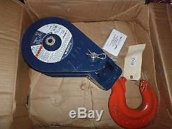 NEW McKISSICK CROSBY 104185 12-Ton 12T TACKLE SNATCH BLOCK SHEAVE HOOK 408 8BB