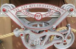 Ney Mfg Co 276 Hay Carrier Unloader Trolley+axle Lock Center Drop Pulley+track+