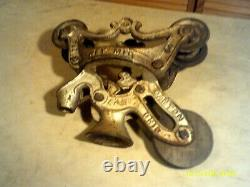 Ney Mfg Co Hay Carrier Trolley(44,45,46) +408 Center Drop Pulley Canton Ohio