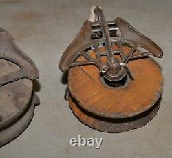 Ney & Myers pulley lot collectible Boss hook catch barn trolley parts tool lot
