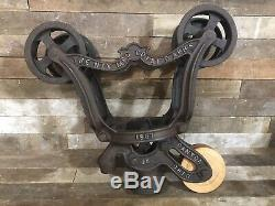Ney Restored Hay Trolley Carrier Antique Vintage Farm Barn Pulley Iron Rustic