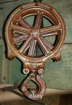 Nice Old A59 Louden Hay Trolley Rope Pulley