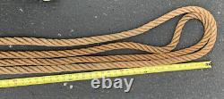 Nice Vintage Hay Loft Hemp Rope 1 128 ft one piece, Long Barn Beam Rope Used