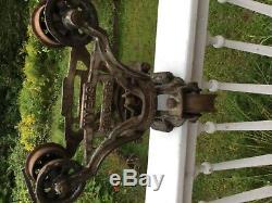 Original Antique Myers Unloader Hay Trolley Primitive Rustic Barn