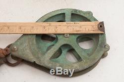Pair Solid Brass Kolstrand Maritime Pulleys Block Tackle Seattle (A5L) 6 Wheel