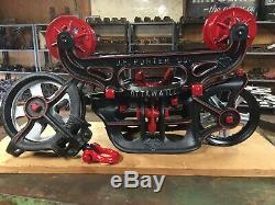 Porter Hay Trolley Pulley Cast Iron Farm Barn Tool Rustic