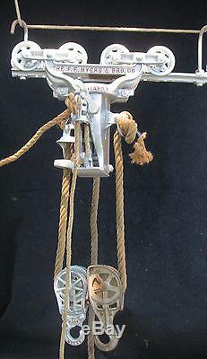 RARE F. E. MYERS & BROS HAY CARRIER TROLLEY H480 BARN LOFT HOIST LOADER