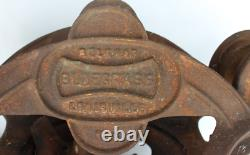 RARE Vintage BLUEGRASS BELKNAP Hay Barn Trolley Carrier From Amish Farm In KY