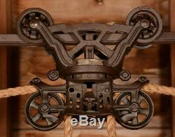 RESTORED Antique Vtg FE Myers THE HERSCHEL Barn Farm Hay Trolley Carrier Pulley
