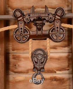RESTORED Antique Vtg Louden STANDARD Barn Farm Hay Trolley Carrier Pulley