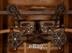RESTORED Vintage Antique BOOMER Hay Barn Trolley Carrier Farm Pulley Tool