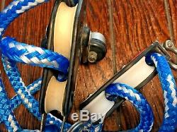 RONSTAN/BARTON 41 SNAP SHACKLE MAIN SHEET, VANG, BLOCK & TACKLE With25' NEW LINE