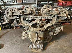 Rare 8 wheel F E Myers Adjustable Hay Trolley N480 Rotating Swivel Bale Carrier