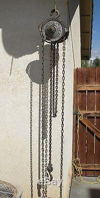 Rare Antique Chisholm Moore Hoist Co. Hercules 1/2 ton Hanging Chain Winch