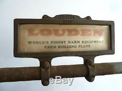 Rare Antique Louden Feed/Farm Store Cast Iron Display- Louden & Ney Hay Trolley