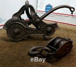 Rare Antique Spragg Hay Hoist Trolley No. 16 1500 Model Marion, Ohio