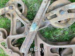 Rare Hunt Helm Ferris & Co. Harvard IL 153 Cast Iron Hay Barn Trolley Primitive