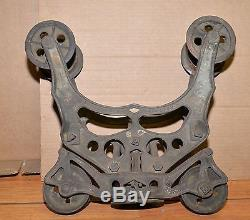 Rare Provan's patent 1898 hay trolley antique steam punk lamp industrial tool