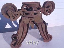 Rare Vintage Swivel Dead Lock Pat. June 1918 Hay Trolley Moves Freely