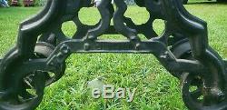 Rare Vintage W. C. Strong Hay Trolley Barn Pulley / ornate repurpose decrative