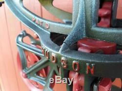 + Restored Hudson Hay Trolley Carrier Barn Pulley Tool Minneapolis MN +