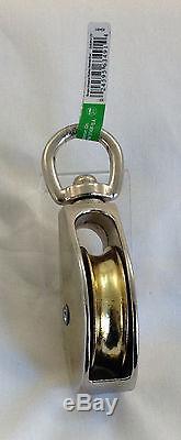 Rope Pulley Hoist Lifting Rigging Single Sheave Swivel Eye New USA Seller