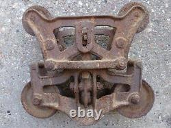 Royal Trolley Barn Hay Carrier Unloader Pat'd. 1896 With Cast Iron Pulley 498