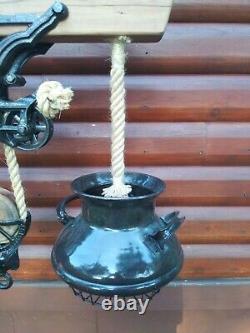 Rustic Hay Trolley Chandelier Milk Can Barn Kitchen Light
