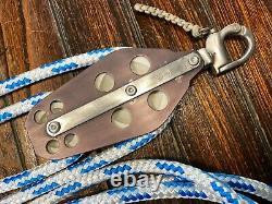 SCHAEFER 5 SERIES SNAP SHACKLE MAIN SHEET, VANG 41 BLOCK/TACKLE With40' 3/8 LINE