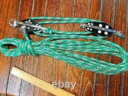 SCHAEFER SNAP SHACKLE MAIN SHEET, VANG 41 PULLEY BLOCK & TACKLE With40' NEW LINE