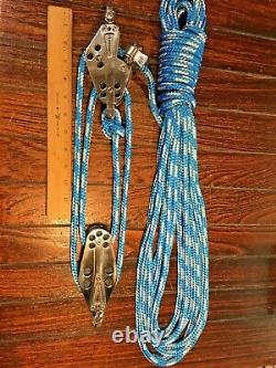 SCHAEFER STAINLESS 5 SERIES MAIN SHEET, VANG 41 BLOCK & TACKLE With40' NEW LINE