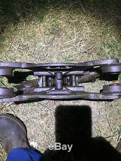 Strickler Cast Iron Hay Trolley Barn Carrier Janesville Wisconsin B&l Pulley