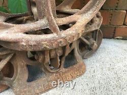 Strickler Cast Iron Trolley 1909 Barn Carrier Farm Janesville Wisconsin Hay Tool