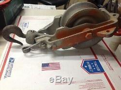 TSE 7 Block & Tackle Model 6707 Aluminum Snatch Pulley 2500lbs #7123E
