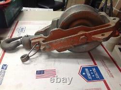 TSE 7 Block & Tackle Model 6707 Aluminum Snatch Pulley 2500lbs #7123E/G