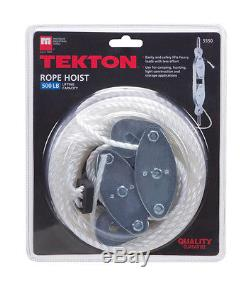 Tekton 5550 Rope Hoist Pulley Wheel Block and Tackle, Wild Game Deer Hanger
