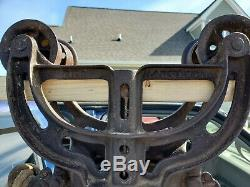 The Harvester hay trolley - Drop Pulley and Length of Antique Rope
