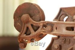 Trolly Barn Cast Iron 4 Wheel Wood Beam Hay Carrier Steam Punk Lamp BUCHANAN
