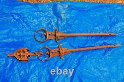 Two (2) Antique Ney Hay Harpoon / Speers in Good Working Condition