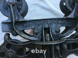 Unique Milwaukee Ideal Swivel Trolley Pat. July 6th 1886