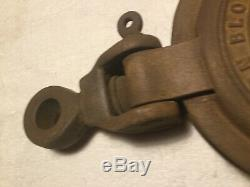Vintage 10 Inch Sheave Pulley Western Block Lockport NY Anvil