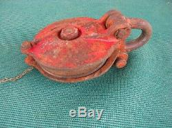 Vintage 6 Snatch Farm Rigging Block and Tackle Pulley Japan