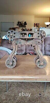 Vintage Antique Barn Hay Trolley Made in Milwaukee